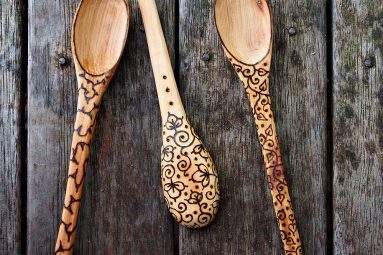 medieval wooden spoons