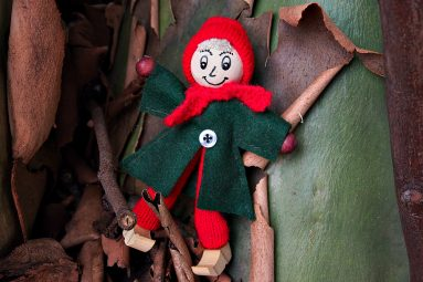 wooden christmas doll