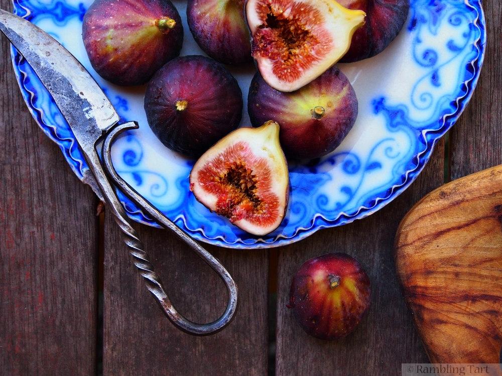 fresh fig half