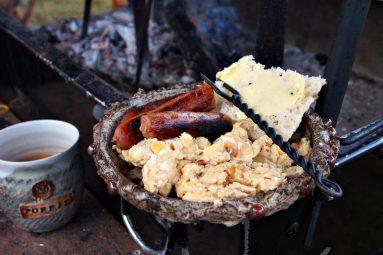 medieval campfire breakfast
