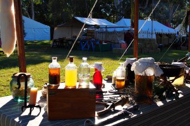 medieval medicine display